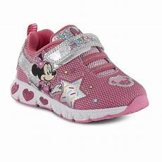 Minnie Mouse Shoes With Lights Character Toddler Girls Minnie Mouse Light Up Sneaker Pink