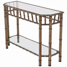 Bamboo Sofa Table 3d Image by Metal Faux Bamboo Console Table At 1stdibs