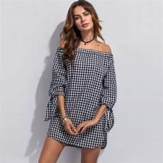 fashion dresses plaid simple summer trendy
