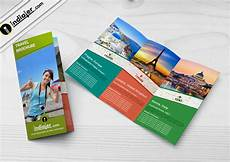 Travel Brochure Cover Design Travel Agency Tri Fold Brochure Psd Template Indiater