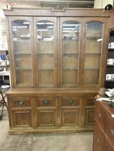 vintage large china cabinet with display lights