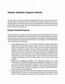 Statement Of Purpose For Grad School Examples Graduate Programs Where To Send Your Statement Of Purpose