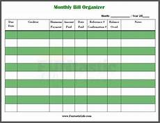 Weekly Bill Planner Free Printable Monthly Bill Organizer Funtastic Life