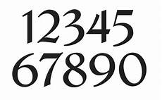 Fonts For Numbers Number Stencil 1 French Chic Font Numbers 0 9 For