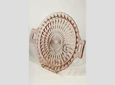 vintage blush pink depression glass serving plate tray