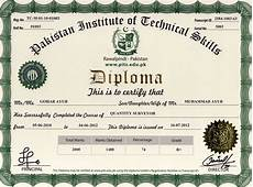 Diploma Samples Certificates Pits Sample Diploma