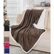 sherpa fleece throw blanket 50 quot x 60 quot mink sherpa throw