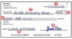 Filled Out Check How To Write A Check A Step By Step Explanation