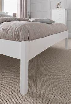 serene eleanor 4ft small white wooden bed frame