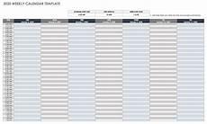 free weekly calendar template 2020 free google calendar templates smartsheet