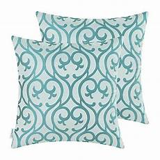 calitime pack of 2 cushion covers throw pillow