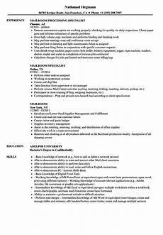 Mailroom Clerk Resume Sample Mailroom Resume Samples Velvet Jobs