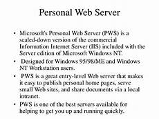Personal Web Ppt Web Server Powerpoint Presentation Id 22251