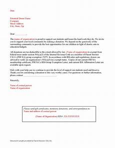 Sample Of Letter Of Solicitation For Donation Donation Solicitation Letter Template Parent Booster Usa