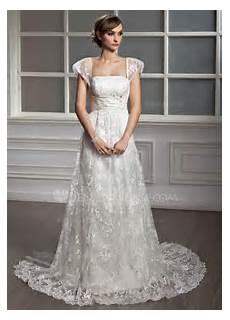 a line princess square neckline court lace wedding