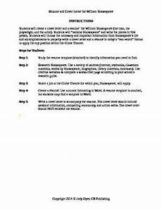 William Shakespeare Resume Resume And Cover Letter For William Shakespeare By Jody
