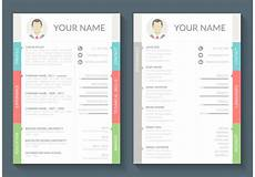 Download A Free Cv Template Curriculum Vitae Vector Template Download Free Vectors