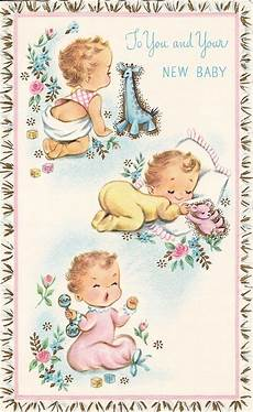 Baby Post Cards Congrats On Baby Vintage Greeting Cards