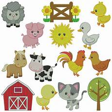 embroidery animals farm animals 2 machine embroidery patterns 14