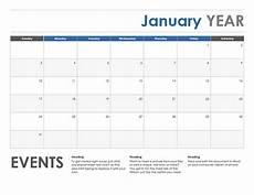 Free Calendar Templates For Word Horizontal Event Monthly Calendar Template Exceltemplate