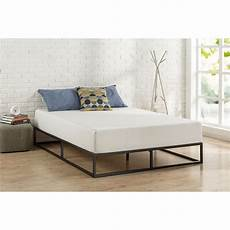 size 10 inch low profile modern metal platform bed