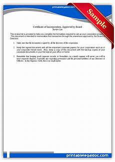 Sample Of Certificate Of Acceptance Free Printable By Laws Approval By Board Form Generic