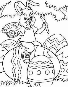 kostenlose ausmalbilder ostern osterhase bemalt ein ei