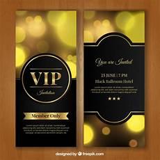 Golden Vip Invitation Vector Free Download