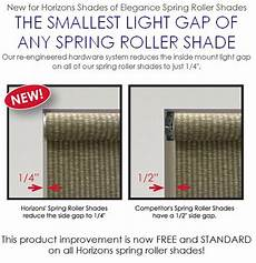Blinds Light Gap Blocker Horizons Window Fashions Horizons Soft Treatments Roller