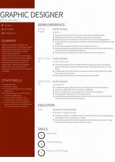 Cv Sample For Graphic Designer Graphic Design Resume Samples And Templates Visualcv