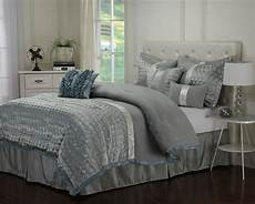 luxe collection dannica 7 silver teal comforter