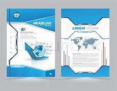 Cover Page Layouts Cover Page Layout Template Technology Style Vector