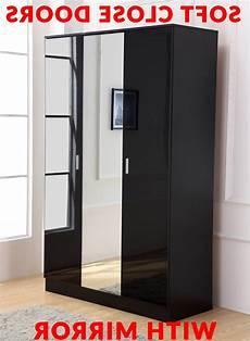 15 photos black gloss 3 door wardrobes