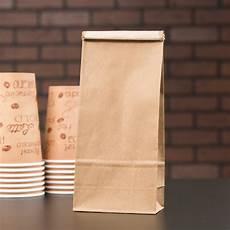 Coffee Bag 1 Lb Brown Kraft Customizable Paper Coffee Bag With