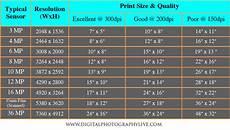 Image Pixel Size Chart Megapixels Vs Print Size How Big Can You Print