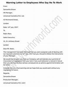 Warning Letter Hr Warning Letter To Employees Refusing To Work Hr Letter