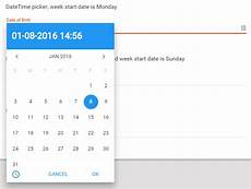 Angular Material Design Datepicker Sm Date Time And Range Picker For Angular Angular Script