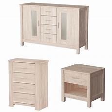 sonoma white wooden oak bedisde chest of drawers sideboard