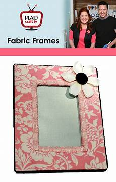 fabric crafts frames cathie filian plaid craft tv fabric covered frames and