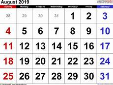 helligdage i august 2019 august 2019 calendar templates for word excel and pdf