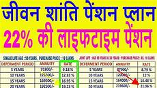 Lic Plan Chart In Hindi Lic Jeevan Shanti High Return Pension Policy Table 850