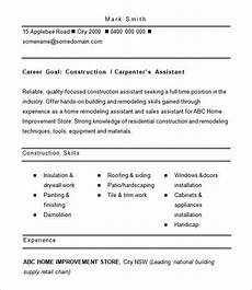 Construction Worker Resume Templates 12 Free Construction Resume Templates Doc Pdf Free