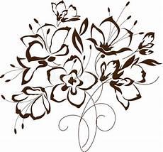 stencil fiori stilizzati progettazione floreale mazzo dei fiori stilizzati