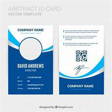 Pvc Id Card Template Abstract Id Card Template With Flat Design Vector Free