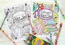 Cover Page For Notebook Back To School Notebook Cover Printable Coloring Page