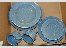Mikasa Ultrastone Country Blue Dinnerware Set For 4