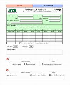 Paid Time Off Forms Free 15 Sample Time Off Request Forms In Pdf Ms Word