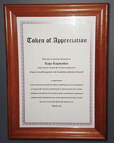 Token Of Appreciation Certificate About Us Emacs Group