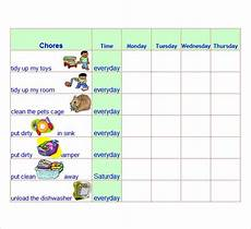Chore Chart Template Word Free 7 Chore List Templates In Word Excel Pdf