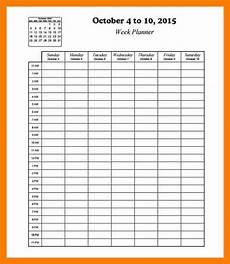 Hourly Printable Calendar Hourly Calendar Template Template Business